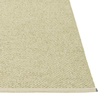 Pappelina - Svea Teppich, 140 x 220 cm, olive metallic / seagras