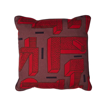 Printed Cushion NDP In The Grass von Hay in Red