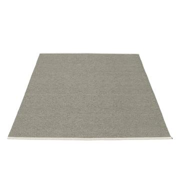 Mono Teppich 180 x 220 cm von Pappelina in Charcoal / Warm Grey