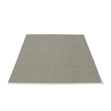 Mono Teppich 140 x 200 cm von Pappelina in Charcoal / Warm Grey