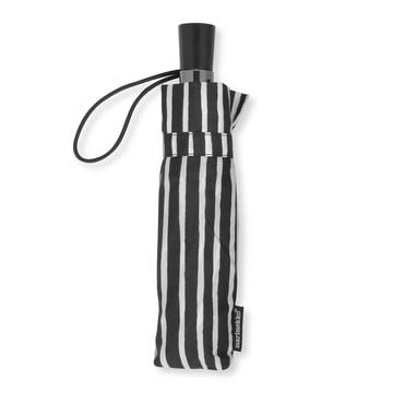 Piccolo Mini Regenschirm von Marimekko in Schwarz / Weiß