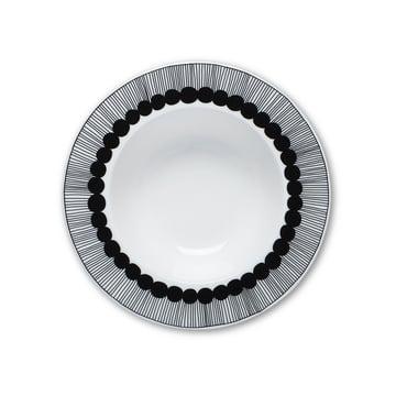 Der Marimekko - Oiva Siirtolapuutarha Tiefer Teller, Ø 20 cm in schwarz / weiß