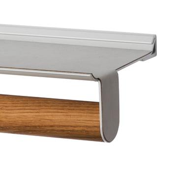 LindDNA - Slim Rail, 20 x 45 cm, Eiche Natur, Nupo metallic / Alu metallic