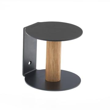 Toilettenpapierhalter von LindDNA in Nupo Schwarz / Stahl Schwarz