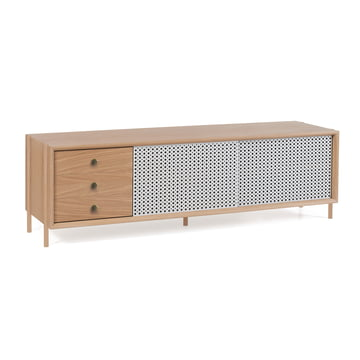 Hartô - Gabin Sideboard mit Schubladen 162 cm, lichtgrau (RAL 7035)