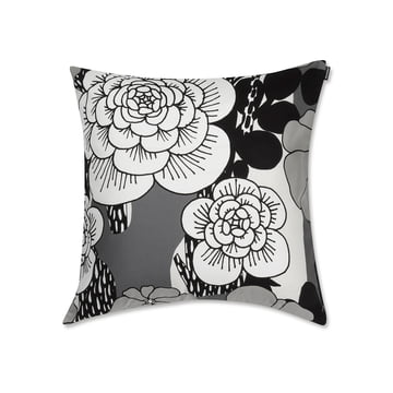 Unelma Kissenbezug 50 x 50 cm von Marimekko in Schwarz / Weiß