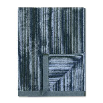 Marimekko - Varvunraita Badetuch 75 x 150 cm, blau / schwarz