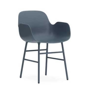 Form Armlehnstuhl (Stahl) von Normann Copenhagen in Blau