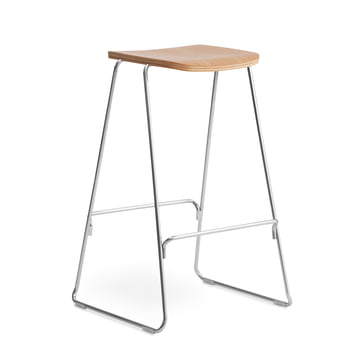 Just Barhocker H 75 cm von Normann Copenhagen in Eiche natur / Chrom
