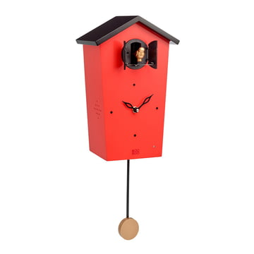 KooKoo - Bird House Kuckucksuhr, rot (Limited Edition)