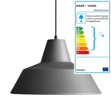 Workshop Lamp W4 von Made by Hand in Anthrazitgrau / Schwarz