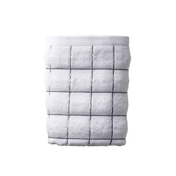 Juna - Tiles Handtuch 50 x 100 cm, weiß / schwarz