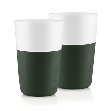Eva Solo - Caffé Latte-Becher (2er-Set), forest green