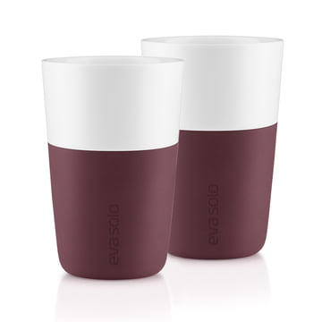 Eva Solo - Caffé Latte-Becher (2er-Set), dark burgundy
