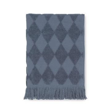Das Juna - Diamond Handtuch 50 x 100 cm in rauchblau