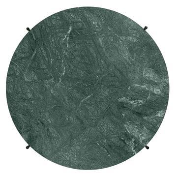 Grüne Marmorplatte des TS Couchtischs von Gubi