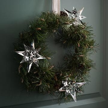 Weihnachtsschmuck Stern von Rosendahl am Türkranz