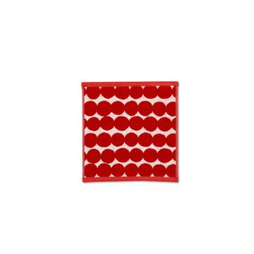Räsymatto Mini-Handtuch 25 x 25 cm von Marimekko in Rot