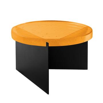 Der Pulpo - Alwa One Tisch Big in H 35 x Ø 56 cm, amber / schwarz