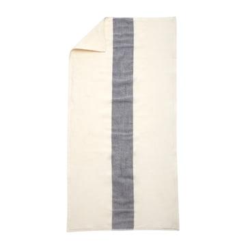 Skagerak - Stripes Towel Badetuch, 70 x 140 cm, whisper white / dark blue