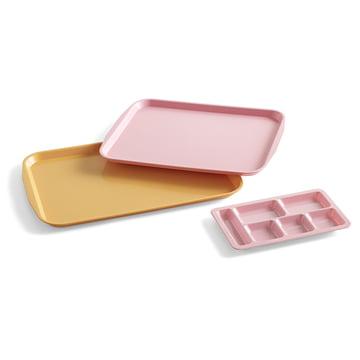Das Hay - Kantinen-Tablett in pink und gelb