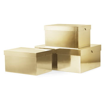 Die Normann Copenhagen - Metallic Boxes, gold (3er-Set)