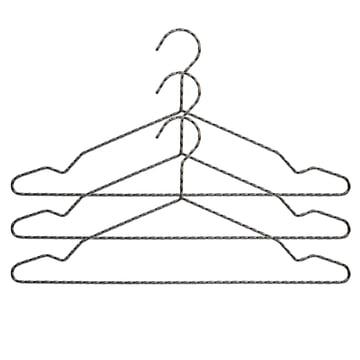 Twisted Kleiderbügel 3er-Set von Hay in Anthrazit