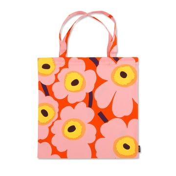 Pieni Unikko Einkaufstasche von Marimekko in Orange / Rosa / Gelb