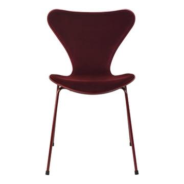 Fritz Hansen - Serie 7 Stuhl, Frontpolsterung Dedar Samt Barberry, rot (Jubiläums Edition: lala Berlin)