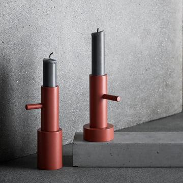 Der Fritz Hansen - Kerzenständer in terrakotta