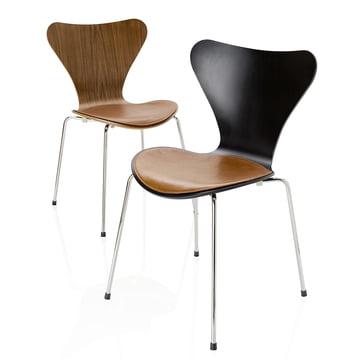 Das Fritz Hansen - Leder Sitzkissen mit Stuhl