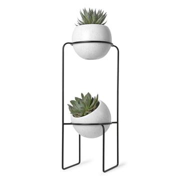 Der Umbra - Nesta Freestand Pflanzenständer in weiß gesprenkelt