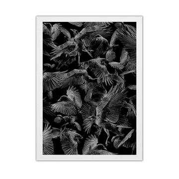 Paper Collective - Black Crows, 50 x 70 cm
