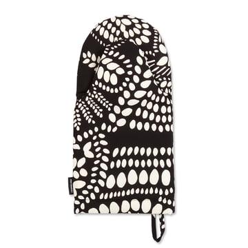 Der Marimekko - Näsiä Ofenhandschuh in schwarz / weiß