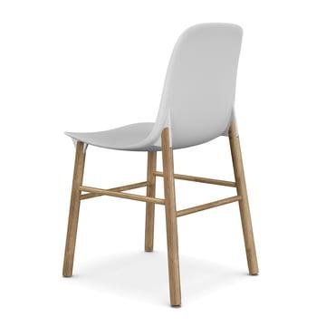 Sharky Stuhl von Kristalia in Eiche mit Sitzschale in Weiß