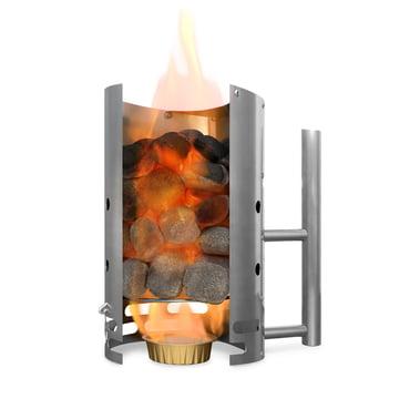 Der Höfats - BBQ Starter für CONE Holzkohlegrill, edelstahl mit Grillbriketts