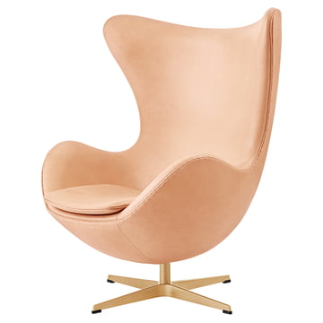 Der Fritz Hansen - Ei Sessel in Pure Leder / gold (60 Jahre Edition)