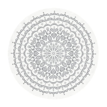 Vitra - Tablecloth Ø 130 cm, Lace / grau