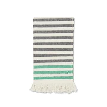 Marimekko - Tasaraita Gästehandtuch 30 x 50 cm, schwarz / weiß / grün