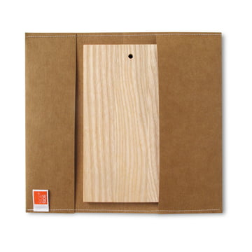 side by side - Outdoor Brett, 23,5 x 13 cm, Cover braun