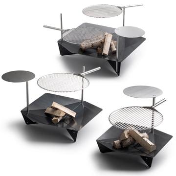 höfats - Triple Grill - Stange - Rost - Tisch