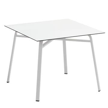 Weishäupl - Ahoi Tisch, 90 x 90 cm, Aluminium weiß / HPL weiß