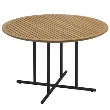 Der Gloster - Whirl Tisch, Ø 120 x H 74 cm, Teak / meteor