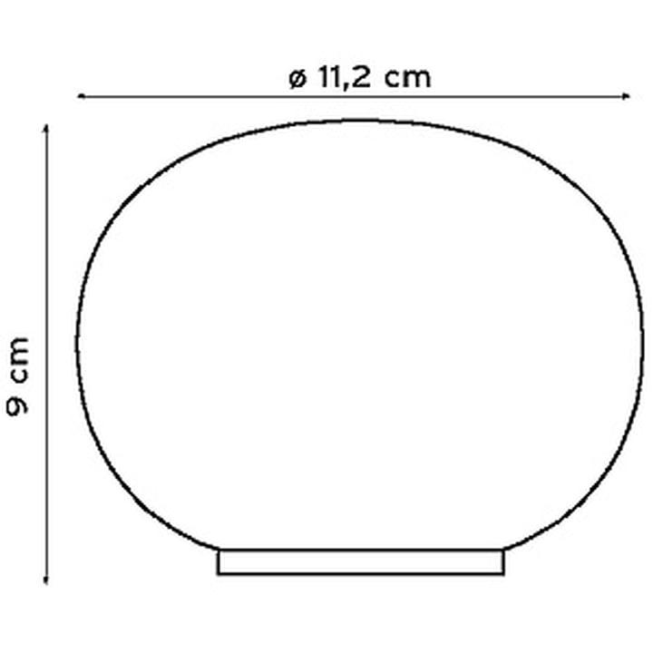 Maße der Mini Glo-Ball Tischleuchte von Flos