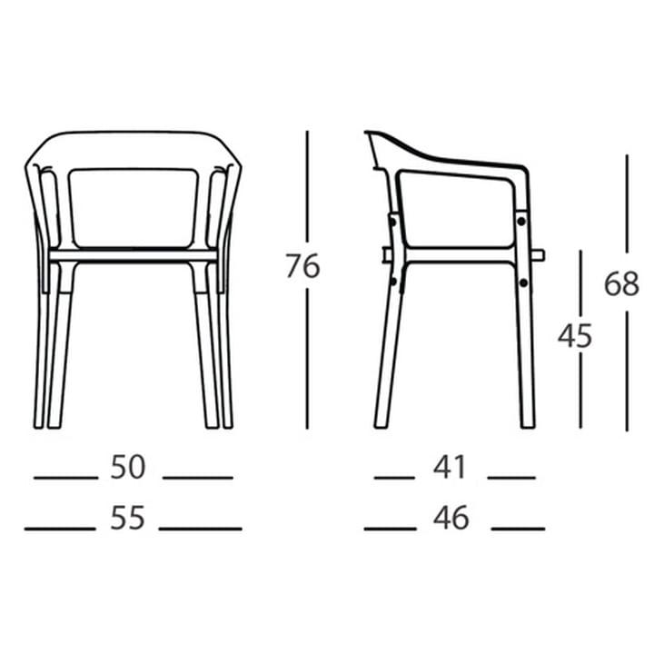 Steelwood Stuhl mit Armlehnen