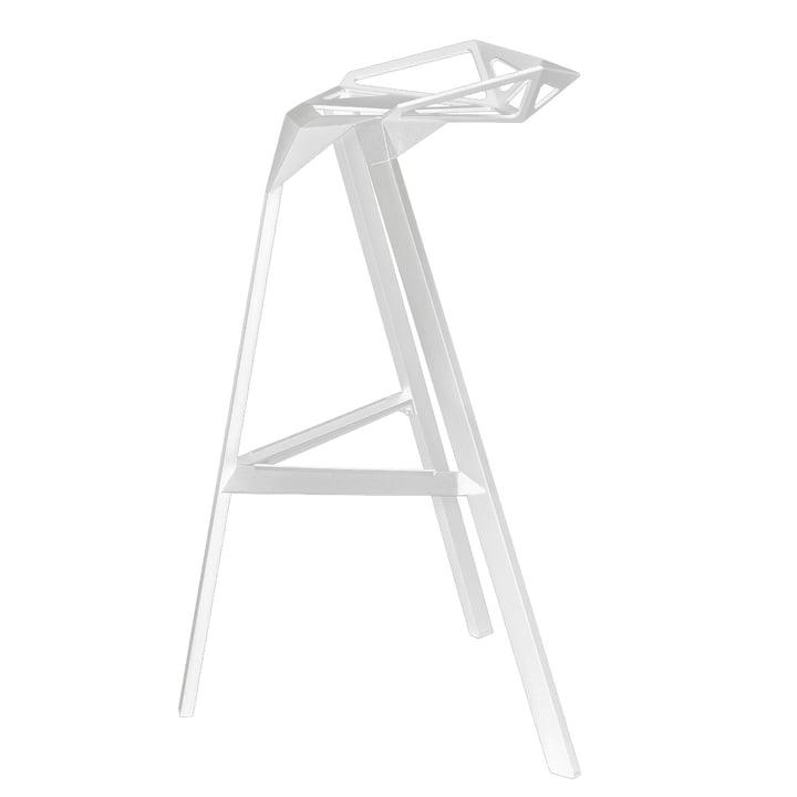 Der Magis Stool One - Sitzhöhe 67 cm in weiß