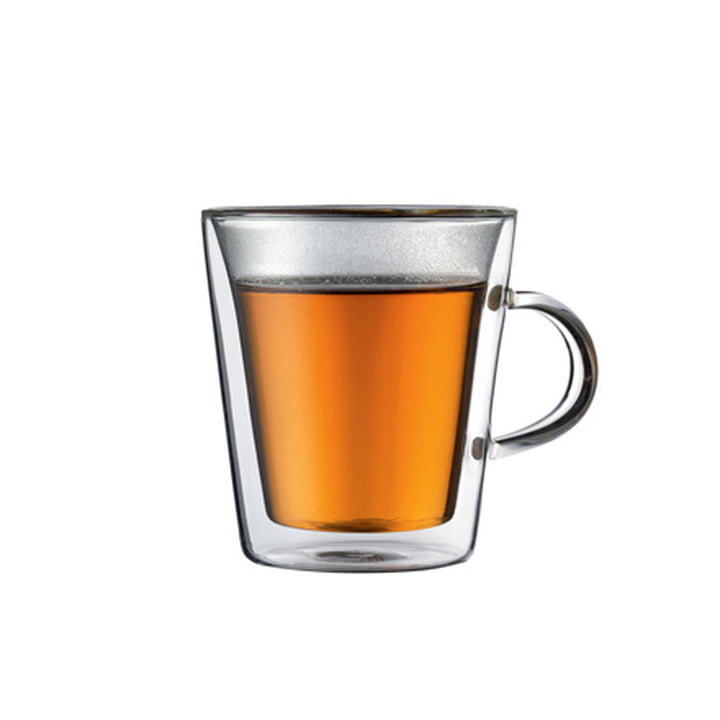 Bodum CANTEEN Glas mit Griff - 0.2l (2er Set)