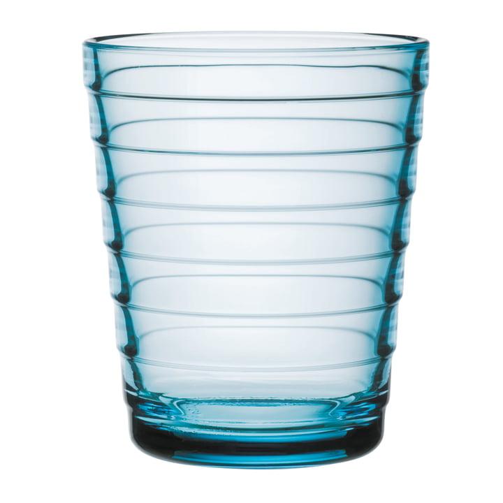 Aino Aalto Glasbecher 22 cl von Iittala in hellblau