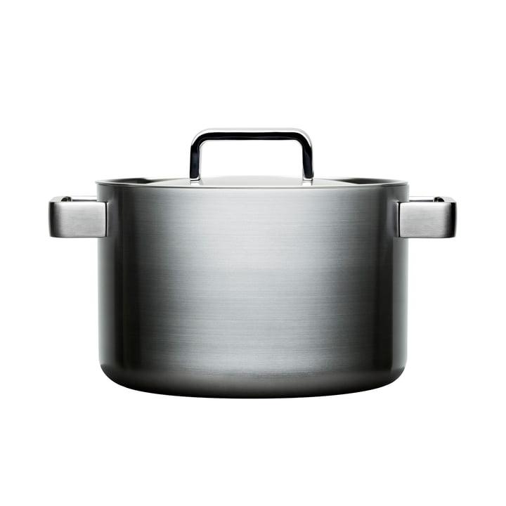 Iittala - Tools hoher Topf mit Deckel, 22 cm, 5 l