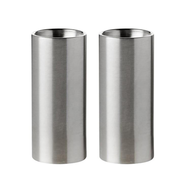 Die Salz- und Pfefferstreuer von Stelton wurden von Arne Jacobsen entworfen